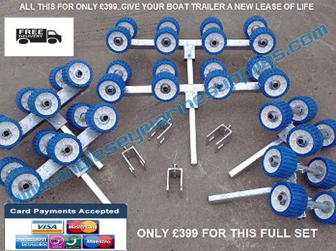 boat trailer rollers bunk conversion kit