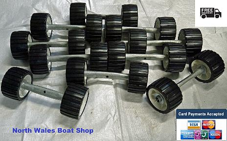 boat trailer rollers on spindles
