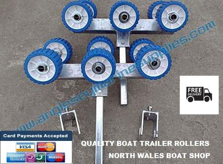 boat trailer rollers six